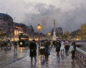 Paris Painting - EC place du chatelet Parisian