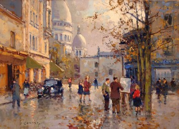 EC place du tertre Parisian Oil Paintings