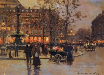 EC place du theatre de la comedie francaise Parisian Oil Paintings