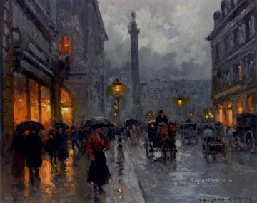 Paris Painting - EC place vendome in rain Parisian