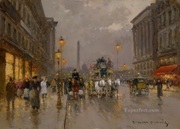 EC royal street consent Parisian Oil Paintings