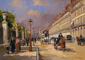 EC rue de rivoli 1 Parisian Oil Paintings