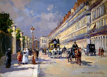 EC rue de rivoli Parisian Oil Paintings