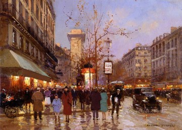 EC st denis 4 Parisian Oil Paintings