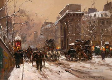 EC st martin winter Parisian Oil Paintings