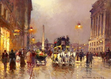 EC the concorde square le soir Parisian Oil Paintings