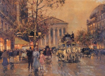 EC the rue royal madeleine Parisian Oil Paintings