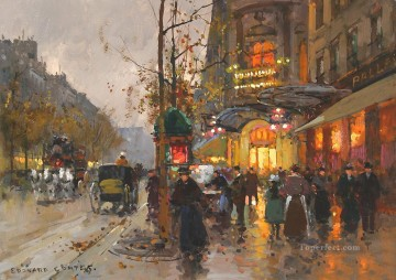 EC theatre du vaudeville 3 Parisian Oil Paintings