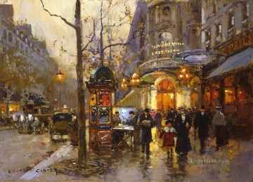 EC theatre du vaudeville Parisian Oil Paintings