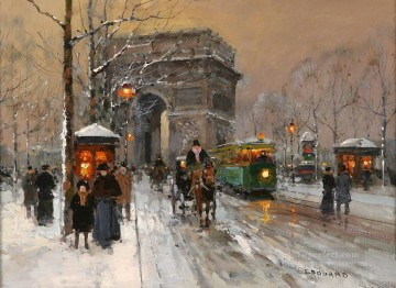 EC triumphal arch 6 Parisian Oil Paintings
