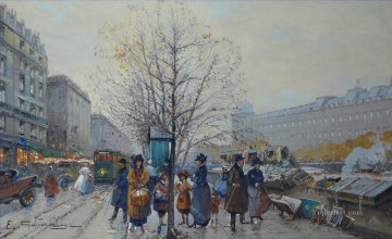 Paris Painting - Les Bouquinistes Parisian