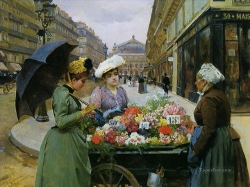 Louis Marie Schryver 8 Parisienne Oil Paintings