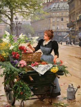 Louis Marie de Schryver 4 Parisienne Oil Paintings