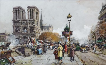 Notre Dame Eugene Galien Parisian Oil Paintings