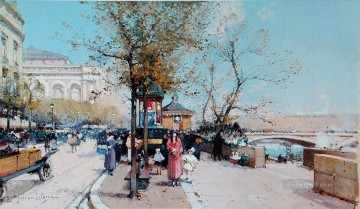 Paris scenes 04 Eugene Galien Oil Paintings