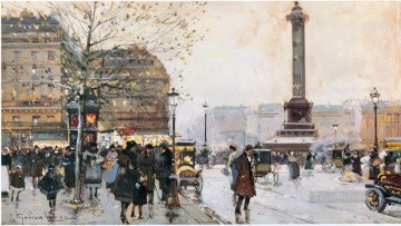 Paris scenes 08 Eugene Galien Oil Paintings