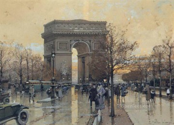 Laloue Art - The Arc de Triomphe Paris Eugene Galien Laloue
