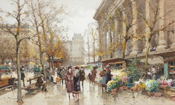 la Madeleine Eugene Galien Parisian Oil Paintings