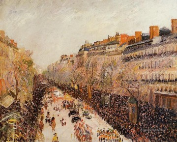 Paris Painting - mardi gras on the boulevards 1897 Camille Pissarro Parisian