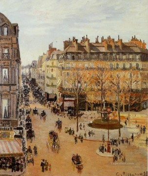 Parisian Works - rue saint honore sun effect afternoon 1898 Camille Pissarro Parisian