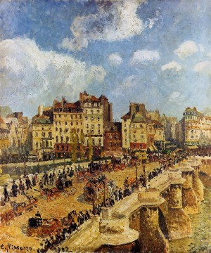 Paris Painting - the pont neuf 1902 Camille Pissarro Parisian