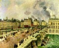 the pont neuf shipwreck of the bonne mere 1901 Camille Pissarro Parisian