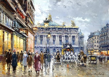 Paris Painting - AB avenue de l opera Parisian