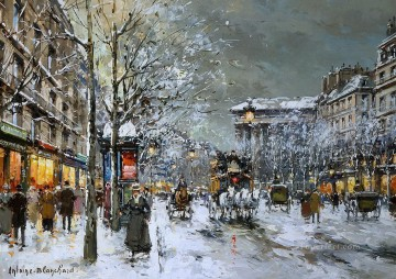 AB boulevard de la madeleine 5 Parisian Oil Paintings