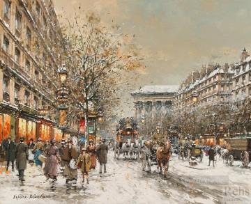 AB boulevard de la madeleine 6 Parisian Oil Paintings