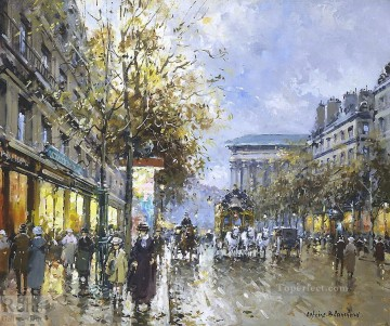 AB boulevard de la madeleine Parisian Oil Paintings