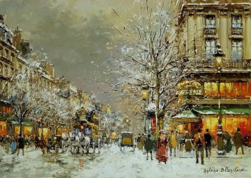 AB boulevard des capucines 2 Parisian Oil Paintings