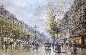AB boulevard haussmann Parisian Oil Paintings