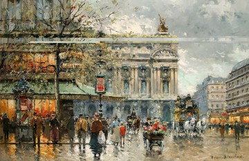 AB caf de la paix 1 Parisian Oil Paintings