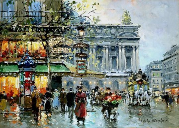 AB caf de la paix opera 2 Parisian Oil Paintings