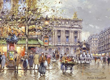 AB caf de la paix opera Parisian Oil Paintings