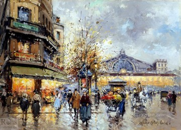 AB gare de lest 1 Parisian Oil Paintings