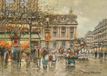 AB l opera caf de la paix Parisian Oil Paintings