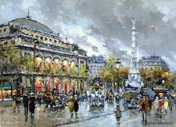 AB la chatelet Parisian Oil Paintings