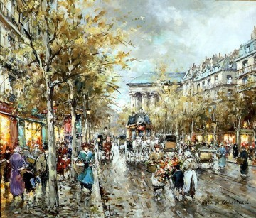 AB la madeleine boulevard des capucines Parisian Oil Paintings