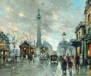 Paris Painting - AB place de la bastiile 3 Parisian