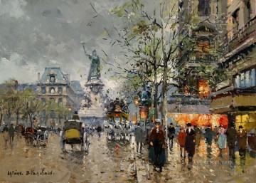 Paris Painting - AB place de la republic 4 Parisian