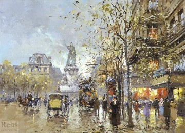 Paris Painting - AB place de la republique 1 Parisian