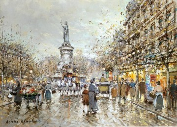 AB place de la republique 3 Parisian Oil Paintings