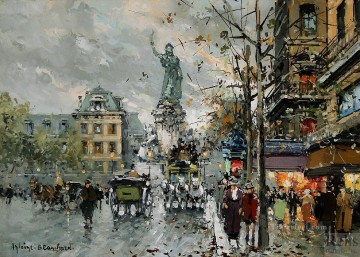 AB place de la republique 4 Parisian Oil Paintings