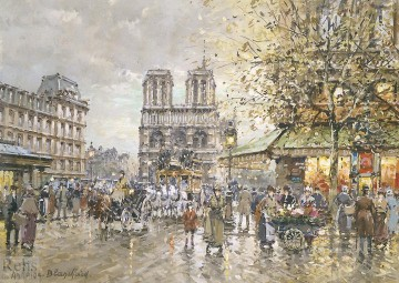 Paris Painting - AB place saint michel notre dame Parisian