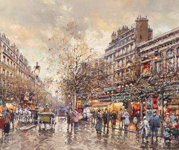 AB theatre du gymnase boulevard bonne nouvelle Parisian Oil Paintings