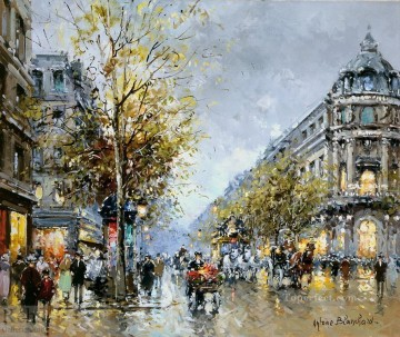 Paris Painting - AB theatre du vaudeville 1 Parisian