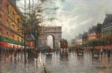 Antoine Blanchard Larc de triomph Parisian Oil Paintings