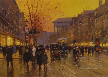 EC boulevard de la madeleine 5 Parisian Oil Paintings