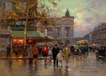 Paris Painting - EC place de l opera 5 Parisian